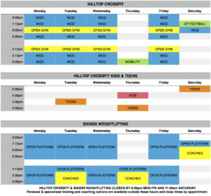 Timetable for Website